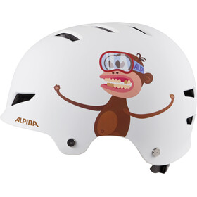 Alpina Park Jr. Helmet white monkey